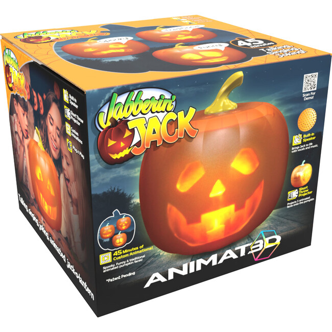 Jabberin' Jack The Talking Animated Pumpkin with Built-In Projector & Speaker