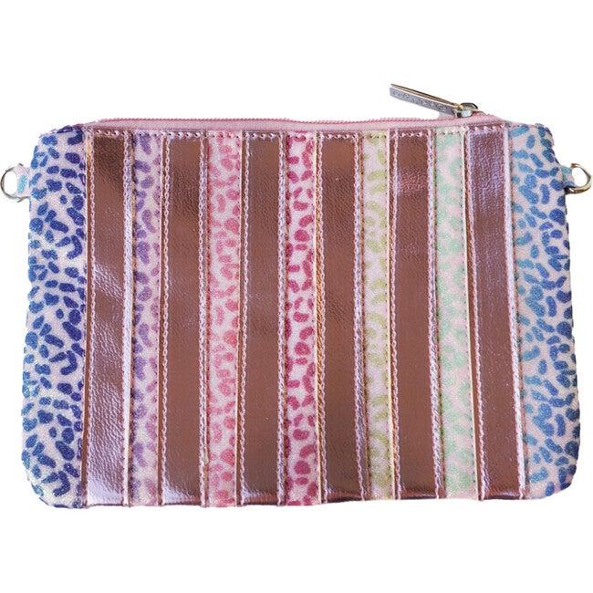 Leopard Stripe Cross Body Bag, Rainbow
