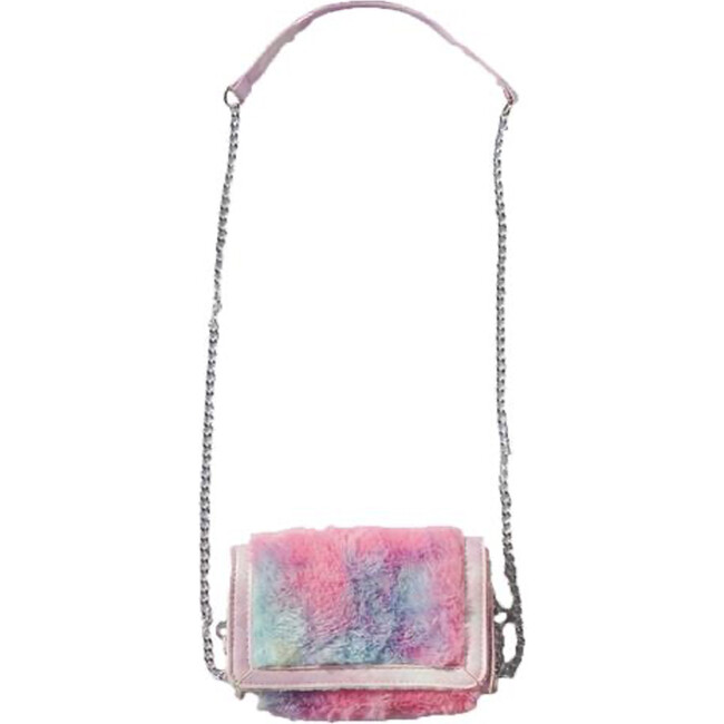 Fur Bag With Chain, Tie Dye