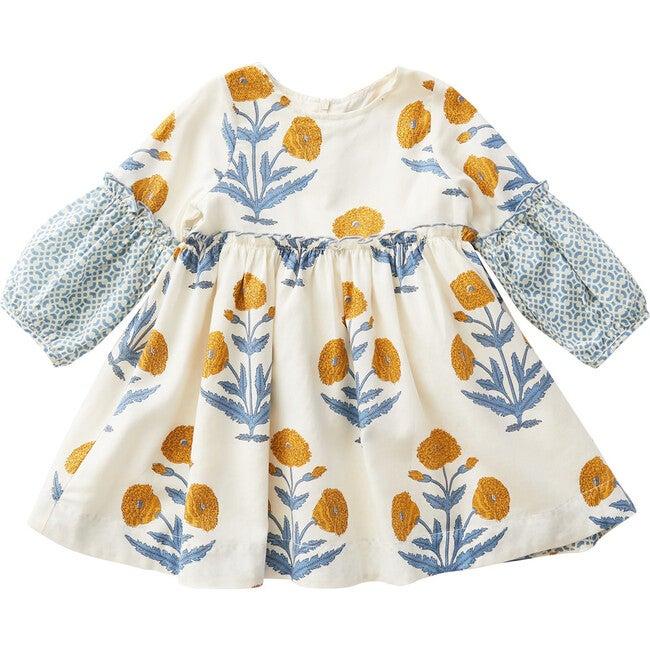 Cecelia Dress, Mineral Yellow Dandelion