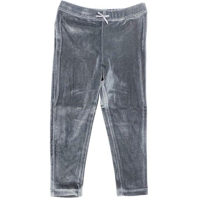Velour Legging, Gray Velour