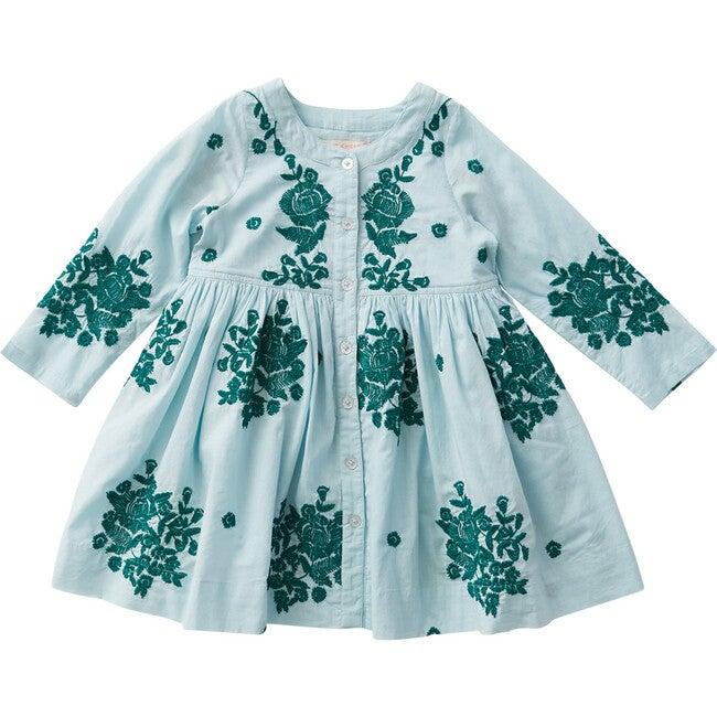 Jocelyn Dress, Faded Blue & Marlow Embroidery