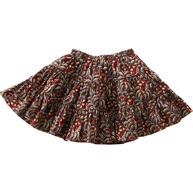 Allie Skirt, Bitter Chocolate Vine Floral