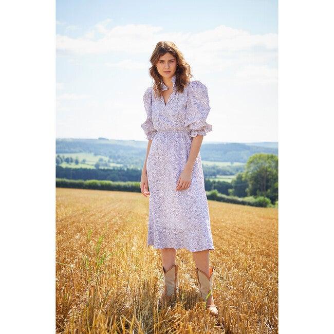 Women's Carey Smocked Dress,Khaki and Blush Floral