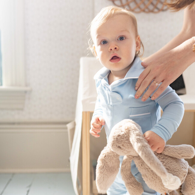 Classic Pajama Footie, Baby Blue