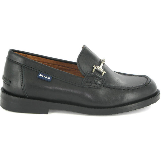 College Shoe in Smooth Leather, Black