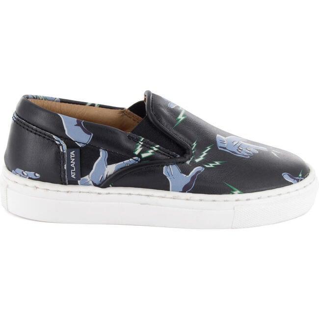 Slip On Sneaker in Printed Leather, Blue