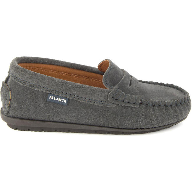 Penny Moccasin in Suede, Grey