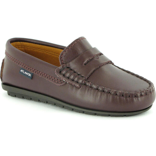 Penny Moccasin in Smooth Leather, Burgundy
