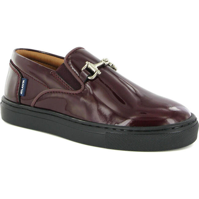 Slip On Sneaker in Patent Leather, Burgundy