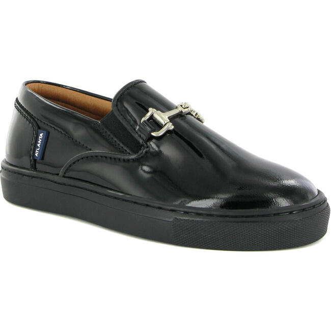 Slip On Sneaker in Patent Leather, Black