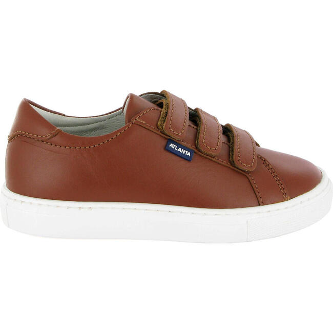Three Straps Sneaker in Smooth Leather, Cuoio