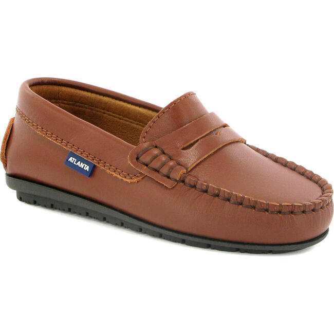 Penny Moccasin in Smooth Leather, Cuoio