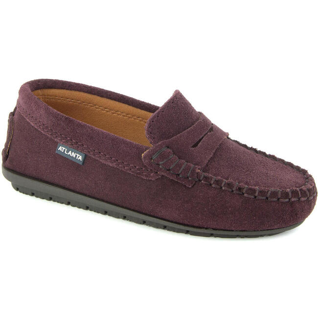 Penny Moccasin in Suede, Burgundy