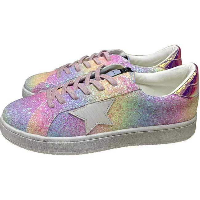 Ombre Glitter Star Sneakers, Multi