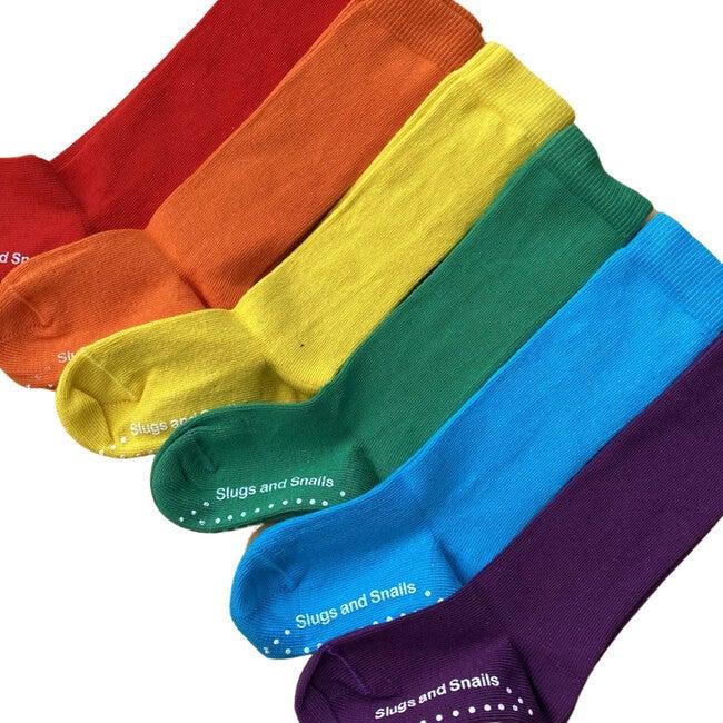 Luxury 90% Organic Cotton Knee Socks Set, Multicolor