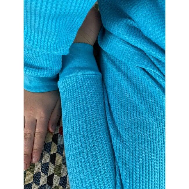 Luxury 100% Organic Cotton Top And Legging Loungeware Set, Turquoise