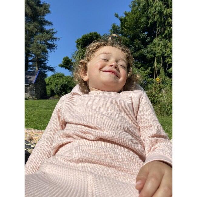 Luxury 100% Organic Cotton Top And Legging Loungeware Set, Pink