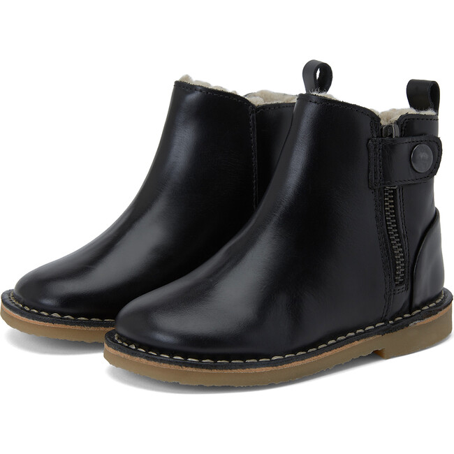 Winston Fur-lined Boot Black Leather
