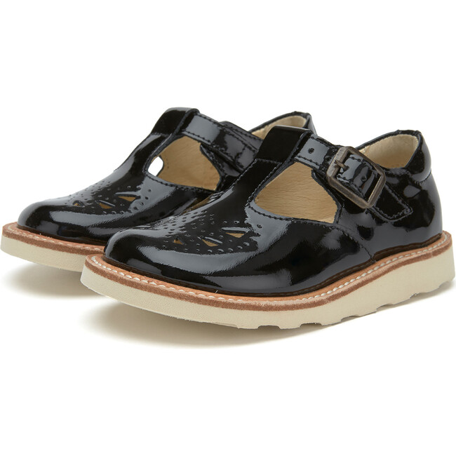 Rosie T-Bar Shoe Black Patent Leather