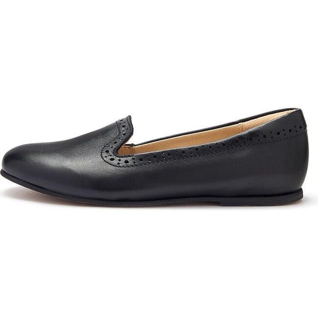 Sindy Slipper Shoe Black Leather