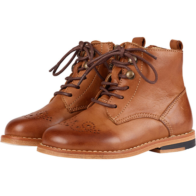 Buster Brogue Boot Tan Burnished Leather