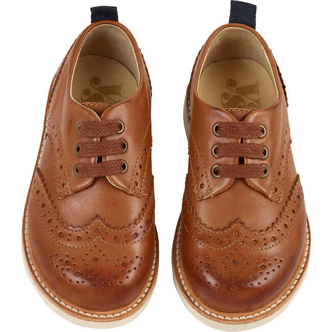 Brando Brogue Shoe Tan Burnished Leather