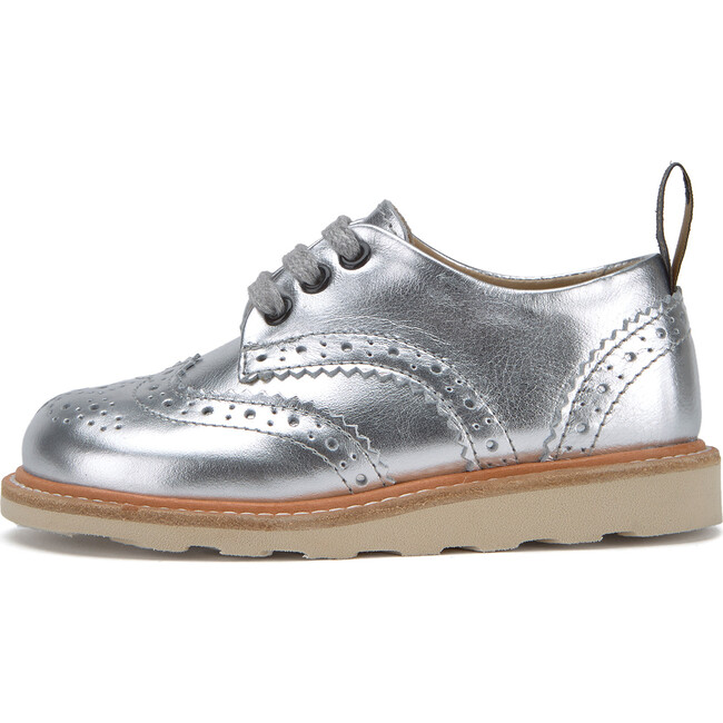 Brando Brogue Shoe Silver Leather