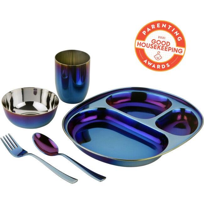 Mindful Mealtime Set, Iridescent Blue