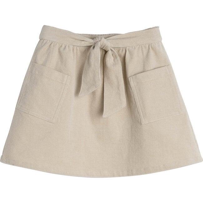 Harper Cord Bow Skirt, Natural Cord