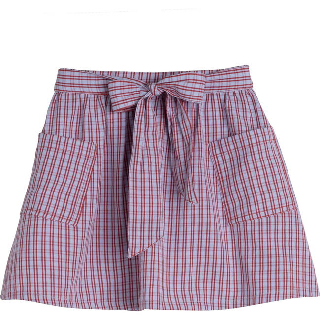 Willow Bow Skirt, Lavender Check - Skirts - 1