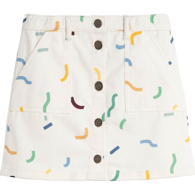 Harlow Snap Skirt, Squiggles