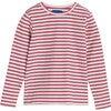 Ruby Ribbed Long Sleeve, Darker Dusty Rose Stripe - Shirts - 1 - thumbnail