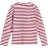 Ruby Ribbed Long Sleeve, Darker Dusty Rose Stripe - Shirts - 3