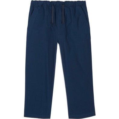 Leo Drawstring Pants, Navy - Pants - 1