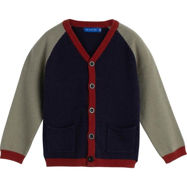 Crosby Colorblock Cardigan, Navy Multi - Cardigans - 1