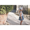 Maisie Ruffle Collar Top, Powder Blue Plaid - Shirts - 6