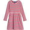 Marley Ribbed Long Sleeve Dress, Red Stripe - Dresses - 1 - thumbnail
