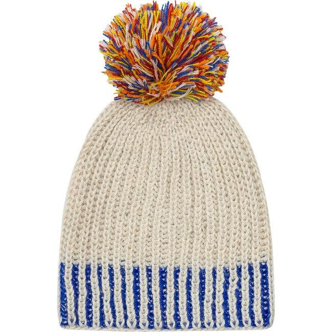 Sprinkled Pom Hat, Cobalt
