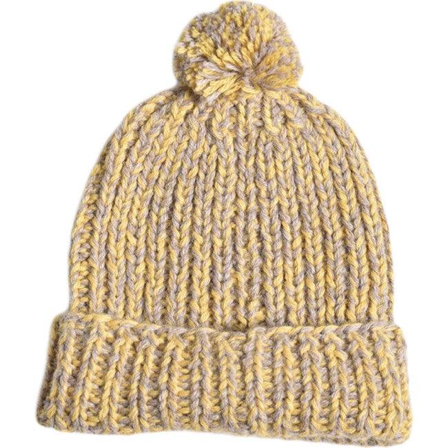 Speckled Pom Hat, Mustard