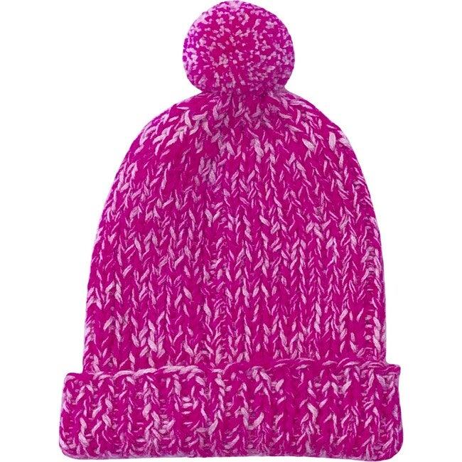 Speckled Pom Hat, Hot Pink