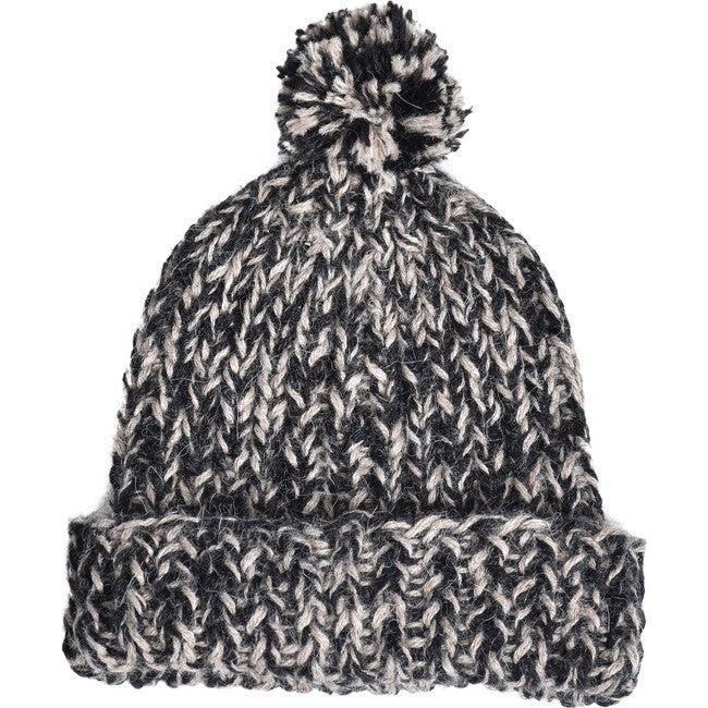 Speckled Pom Hat, Black