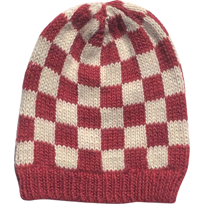 Checked Hat, Red