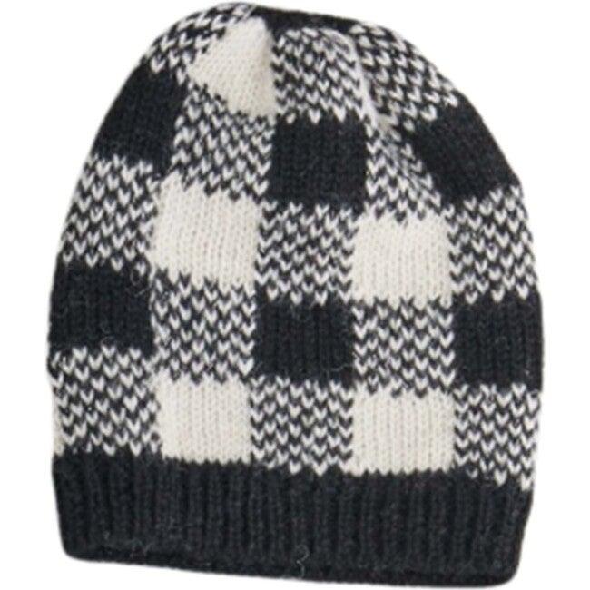Checked Hat, Black