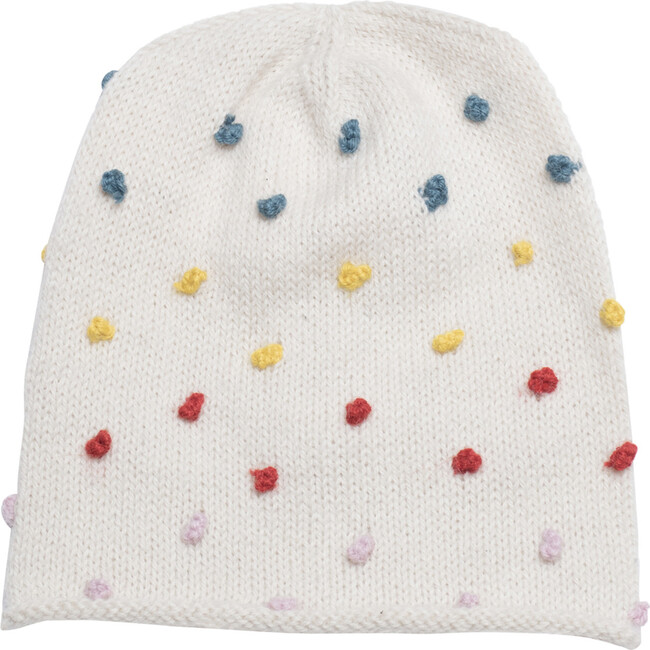 Candy Dot Beanie, Rainbow Dots