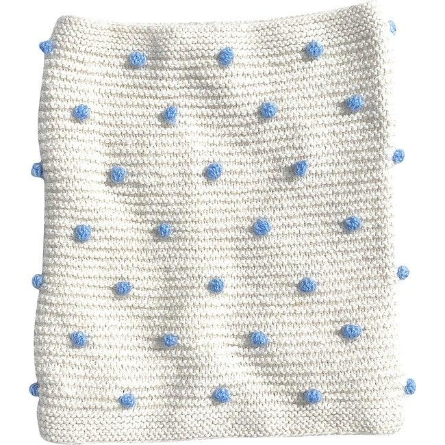 Infinity Scarf Ivory/Blue Dot - Scarves - 1
