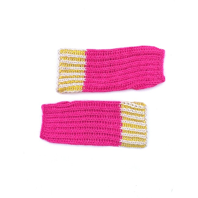 Fingerless Gloves, Hot Pink