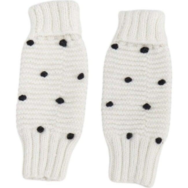 Leg/Arm Warmers, Ivory/Black Dot