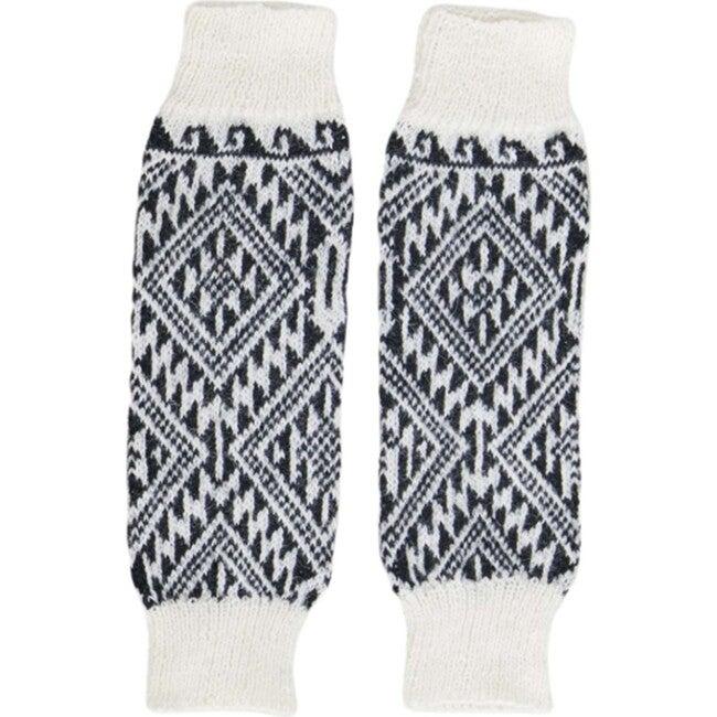 Leg/Arm Warmers, Black/White Aztec - Leg Warmers - 1
