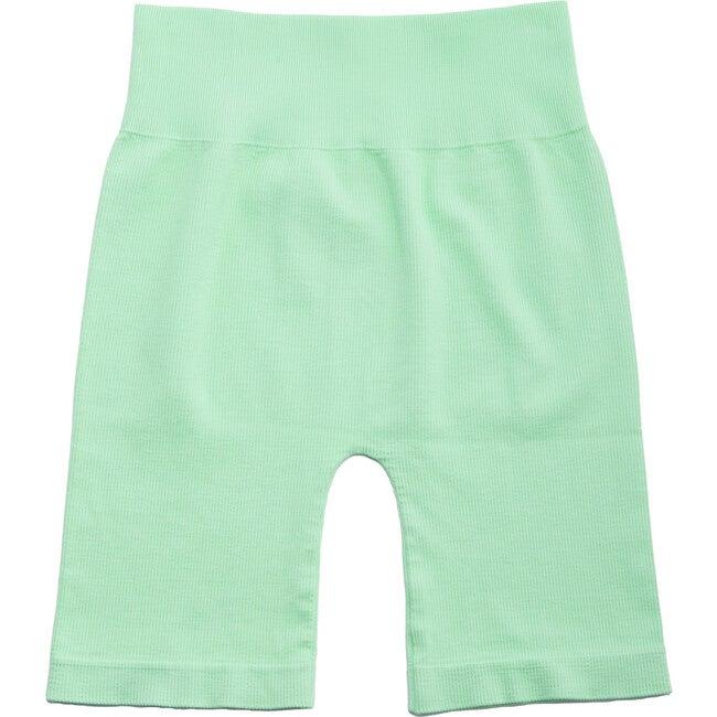 Women's Bai Ribbed Biker Shorts, Lime Green